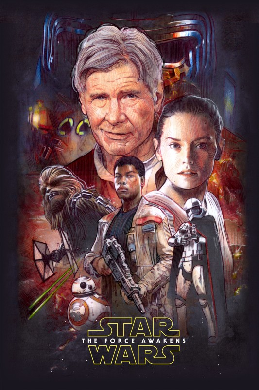 The Force Awakens Blu-Ray Poster by Mark Ratts