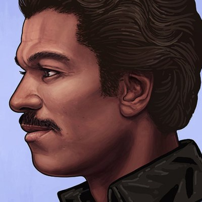 Lando Calrissian by Mike Mitchell