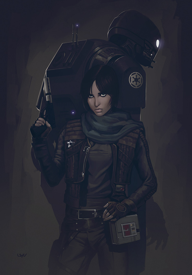 Jyn Erso & K2SO by Yvan Quinet
