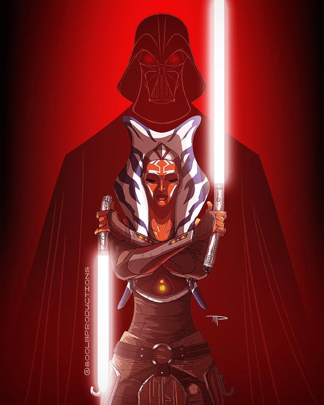 Darth Vader & Ahsoka by Michael Pasquale