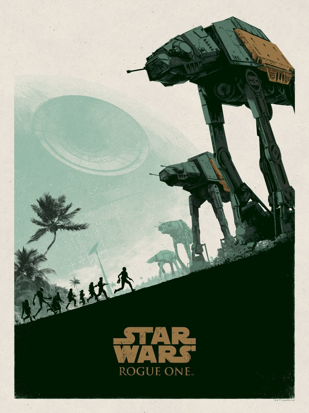 AT-ACT Rogue One Poster by Matthew Ferguson
