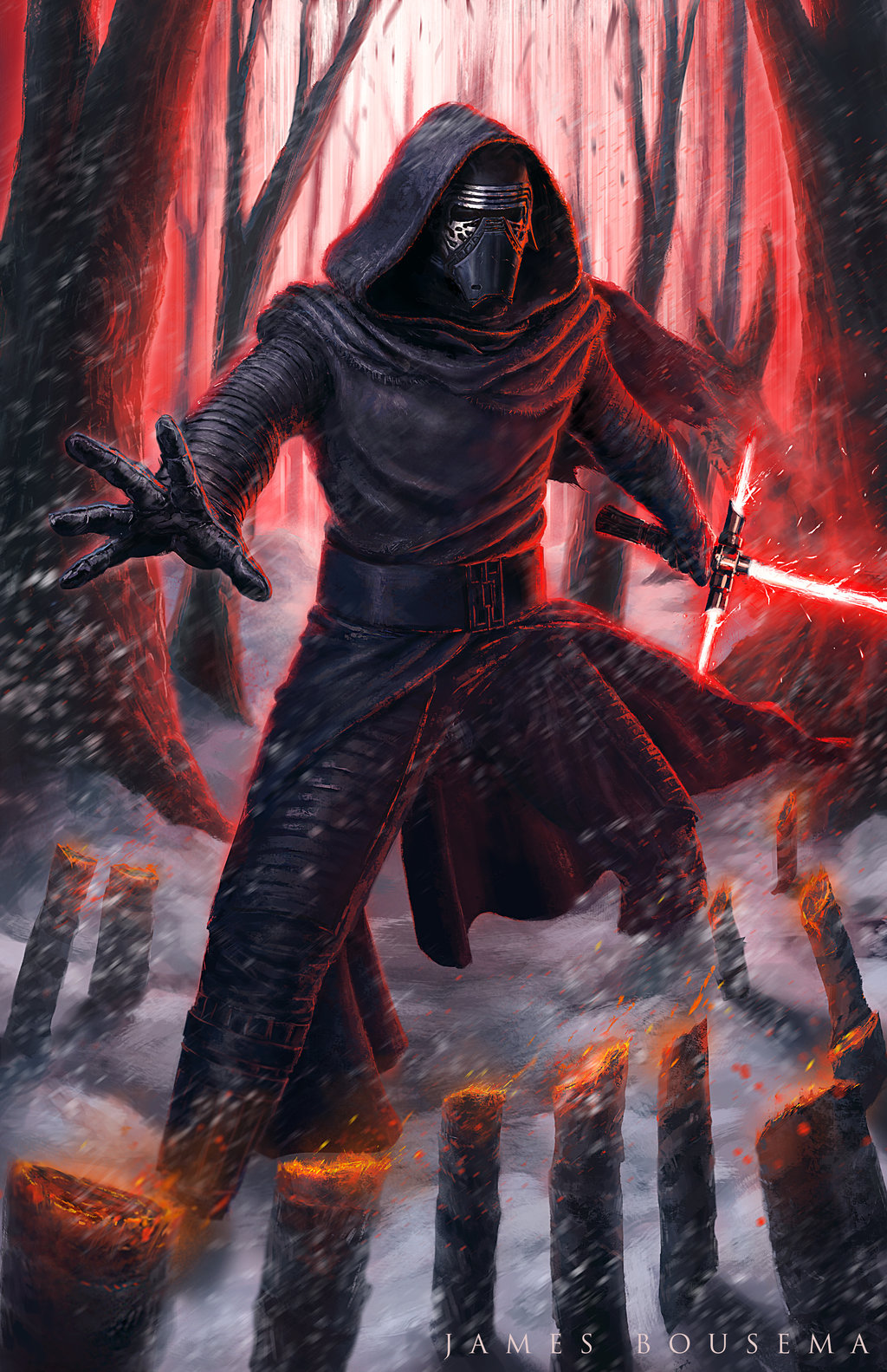 Kylo Ren by James Bousema