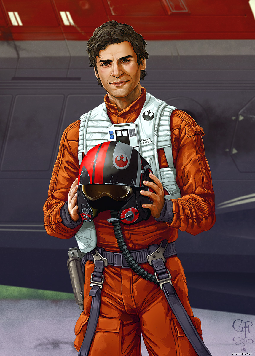 Poe Dameron by Julia Lichty