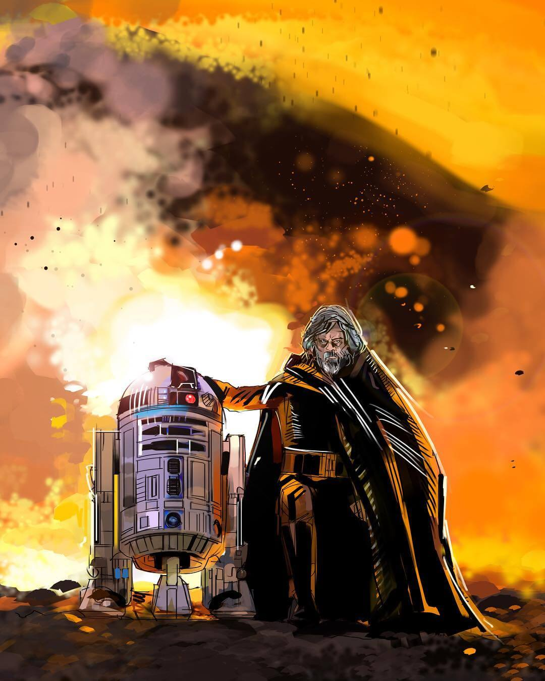 Luke And R2 by Eli Hyder