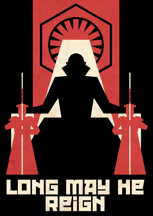 First Order Propaganda Poster Snoke by Ai Vo