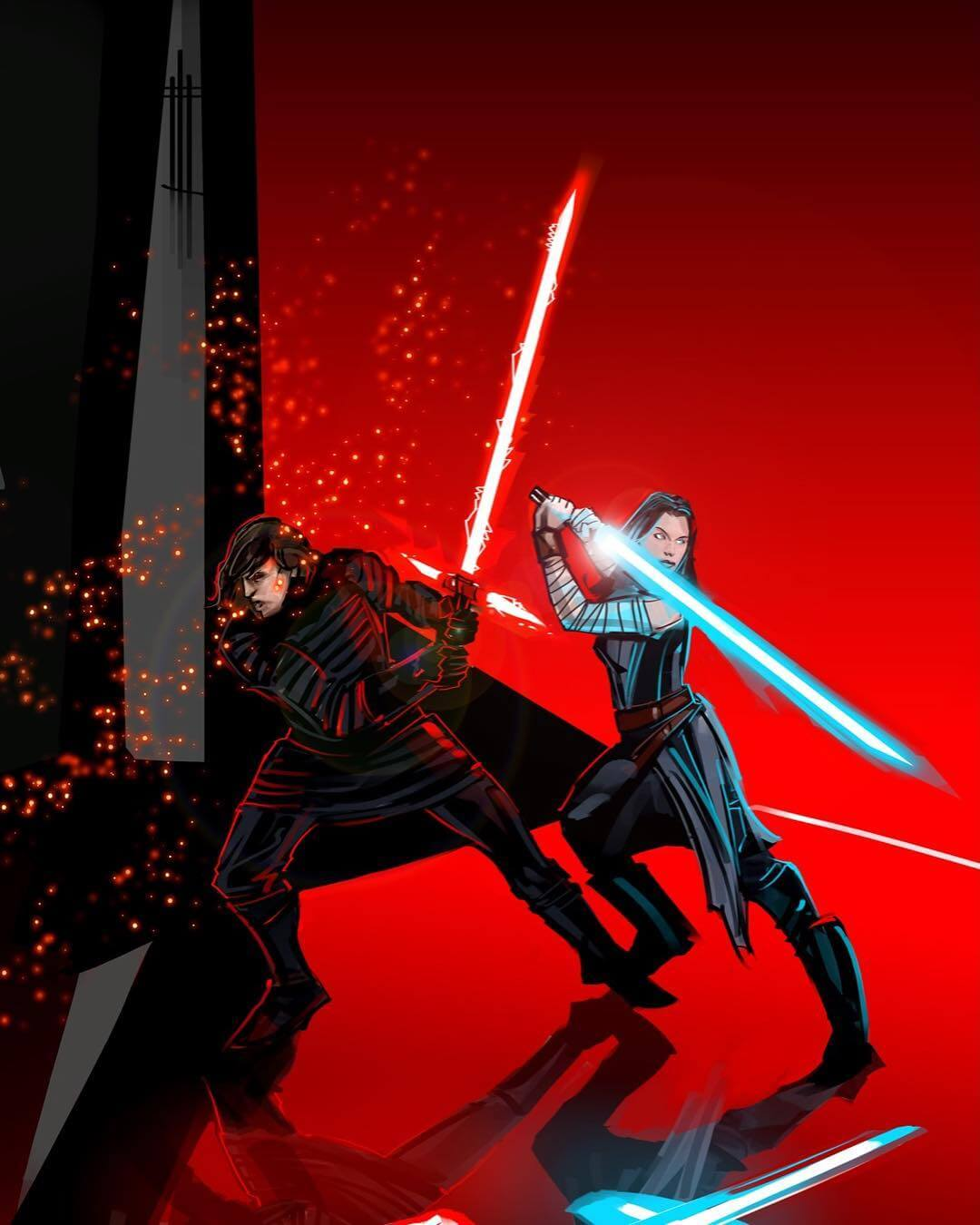 Kylo And Rey by Eli Hyder