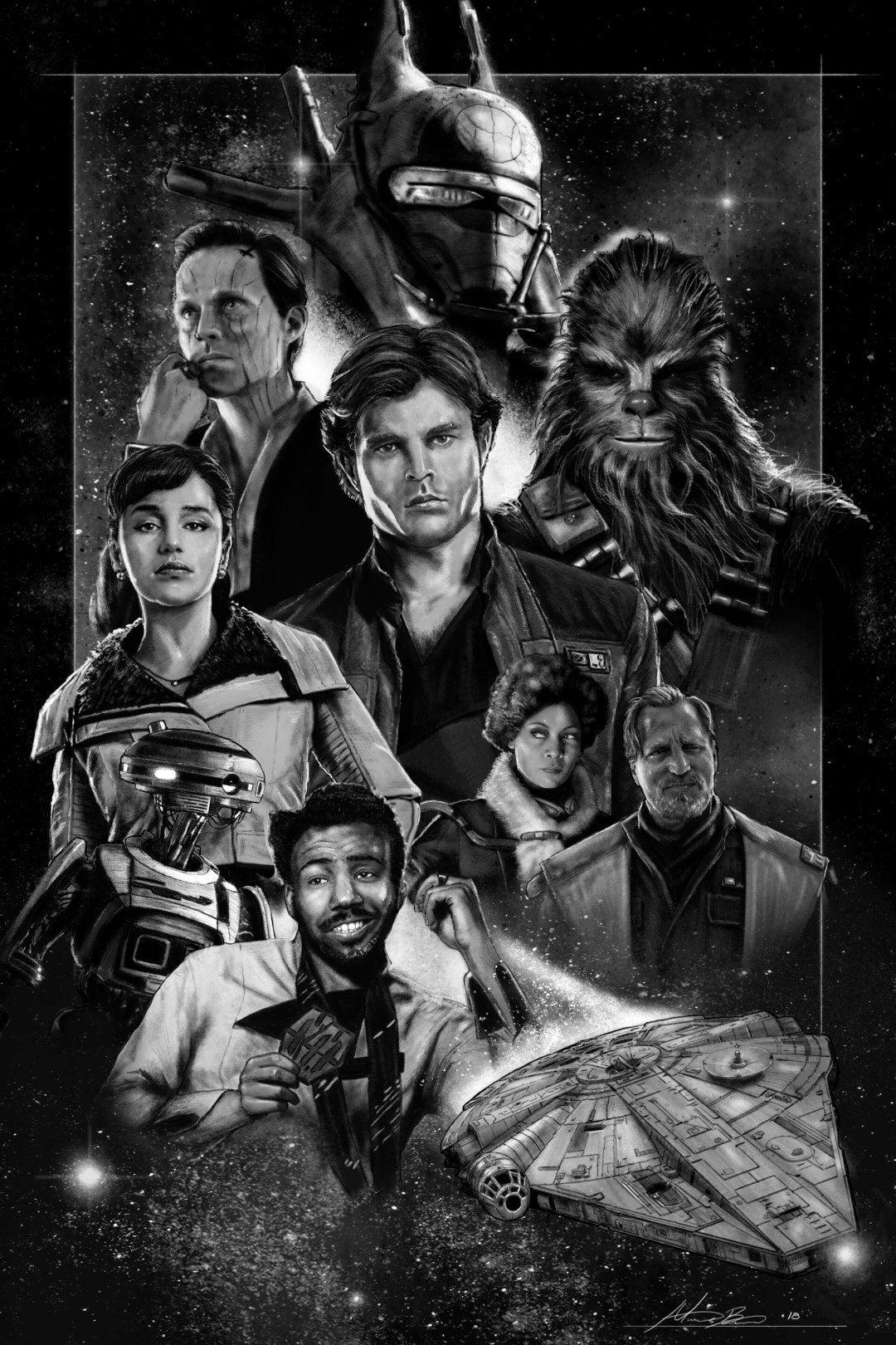 Solo poster (bw) by Micah Brown
