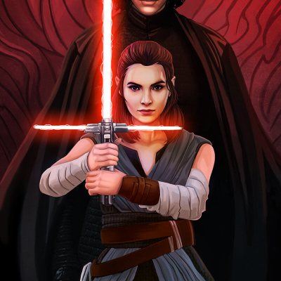 Kylo & Rey by Mary Jovino