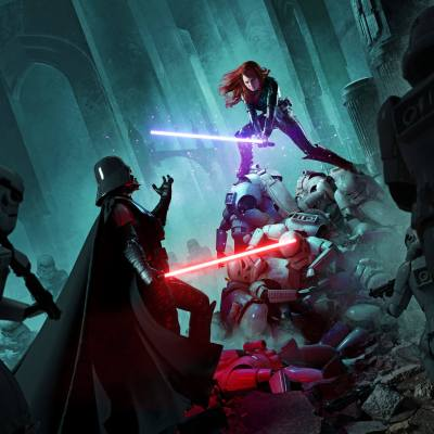Darth Vader vs Mara Jade by Mike Heath