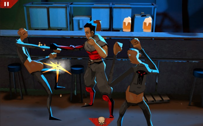 Wasteland Bar Fight by Kybernesis: Gal Fighting Creeps
