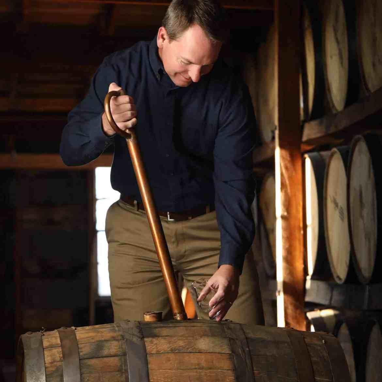 Denny Potter testing whiskey