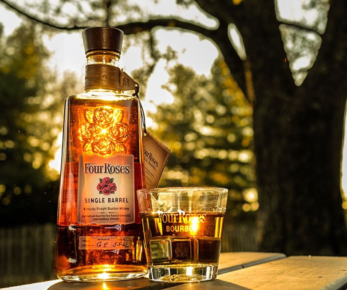 Four Roses Bourbon Bottle