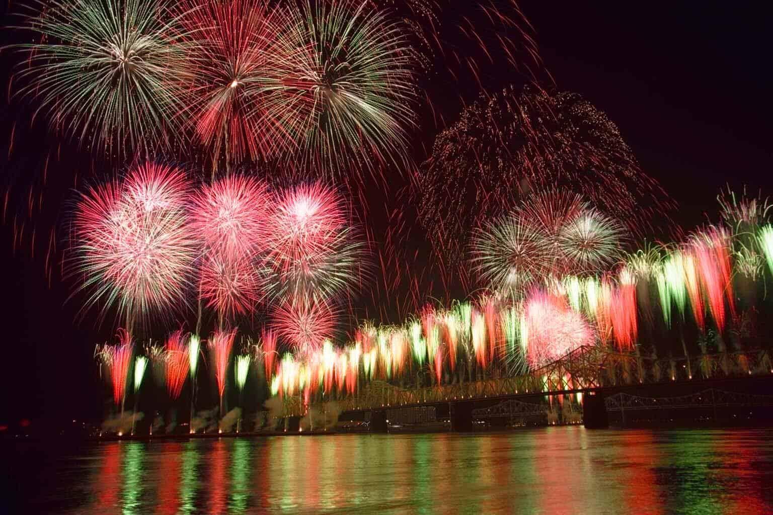 Louisville fireworks - Kentucky Derby Festival