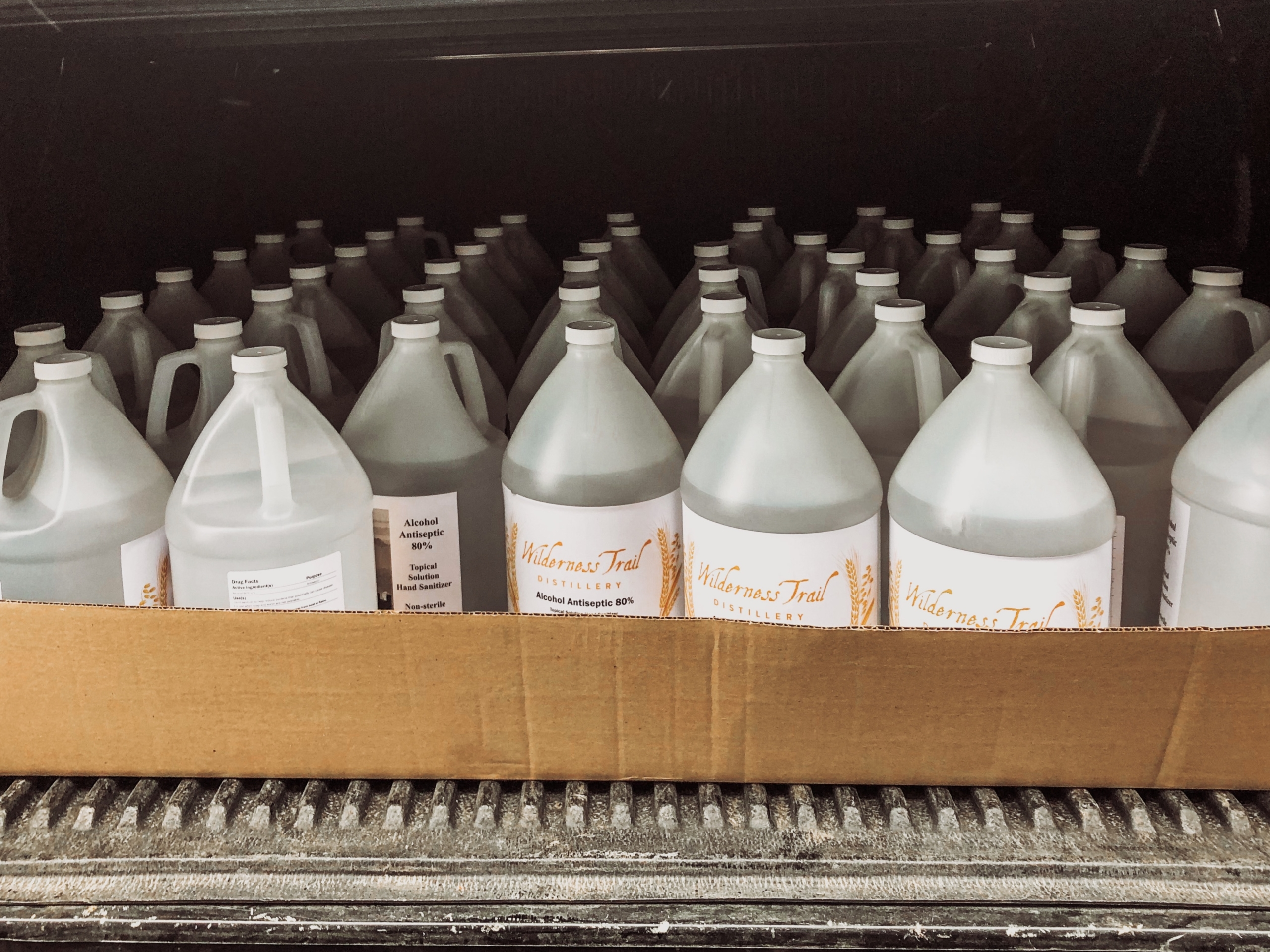 bottles scaled - Wilderness Trail Distillery to make hand sanitizer