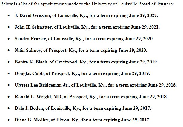 uofl board appointments