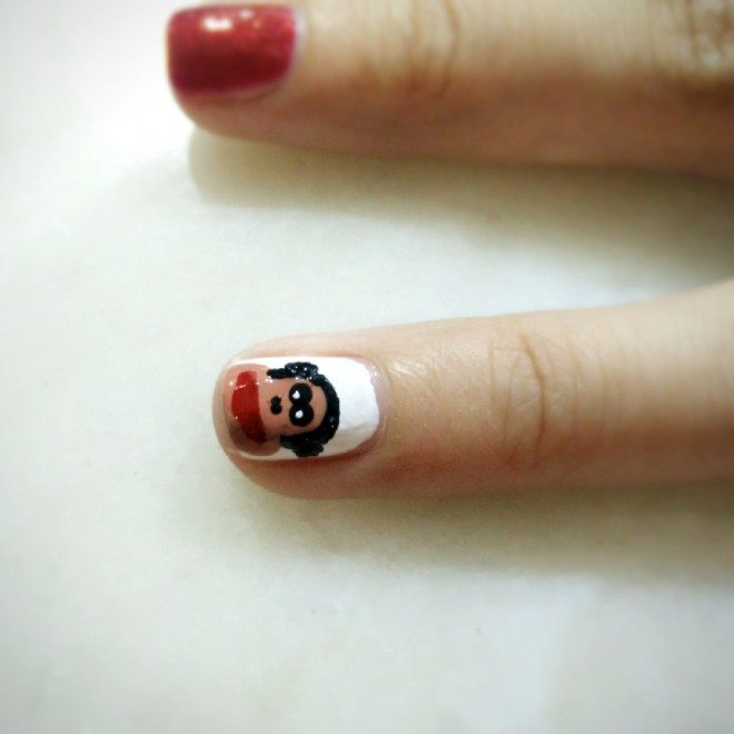 Cny Monkey Nailart My Crooked Paul Frank For Chinese New Year