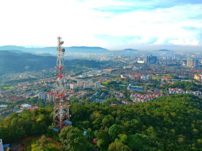 bukit dinding view of tabur hill and genting