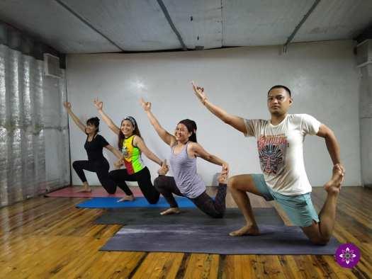 4 people doing yoga
