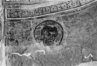 Ναός Αγίου Νικολάου, Κώμα του Γιαλού, τοιχογραφία του αγίου Σπυρίδωνος πριν το 1974