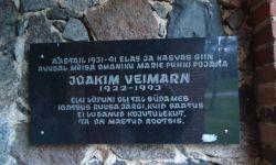 Mälestustahvel Joakim Veimarnile