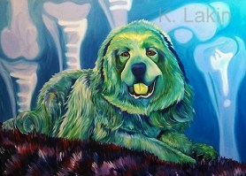"""""""Cooper"""", 2013. 55x75inches, Acrylic on canvas."""
