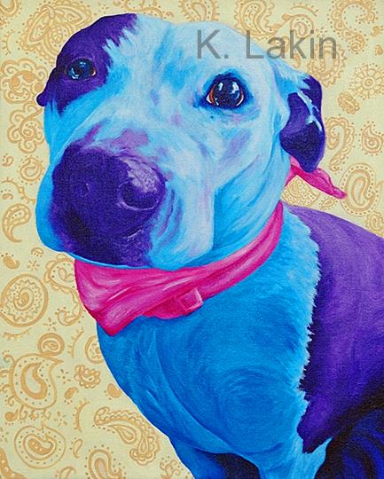"""Dazy"", 2013. 16x20inches, Acrylic on canvas."