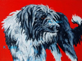 9x12inches Acrylic on canvas Animal Health Library Exhibit Spring 2015 Fundraiser for Humane Society of the Palouse