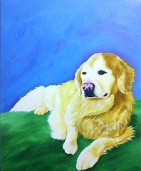 """""""Tilly"""", 2013. 20x24inches, Acrylic on canvas."""