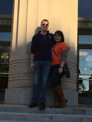 the maurers in front of angel hall