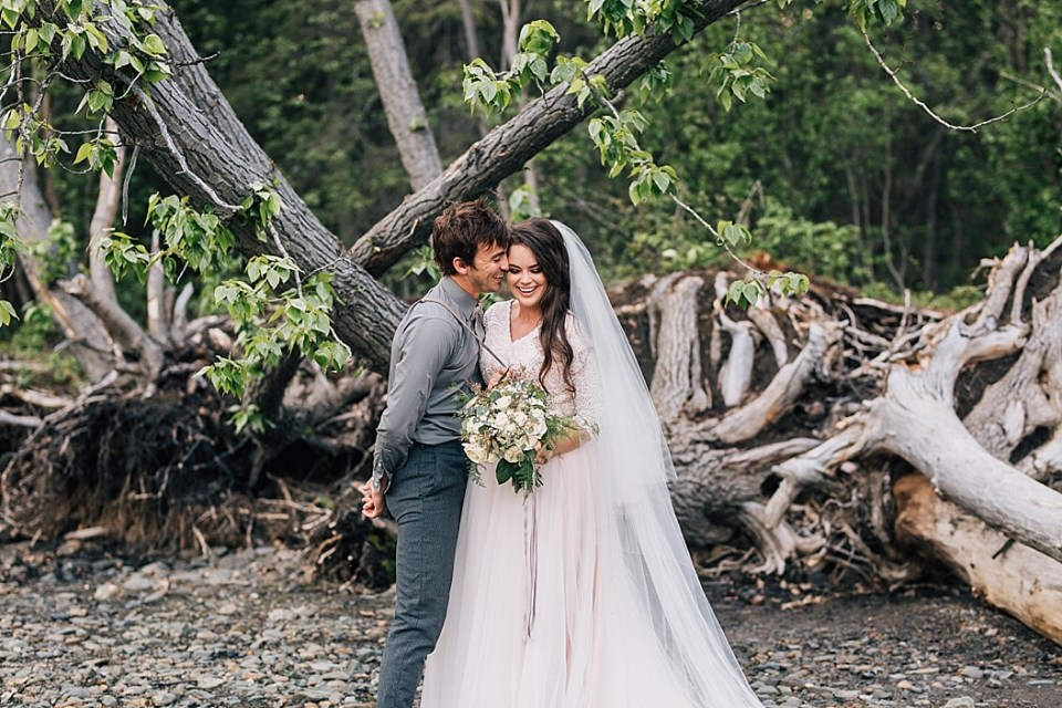 Alaska Wedding Photographer | Engagements by the Lake | Styled by Eighth Main
