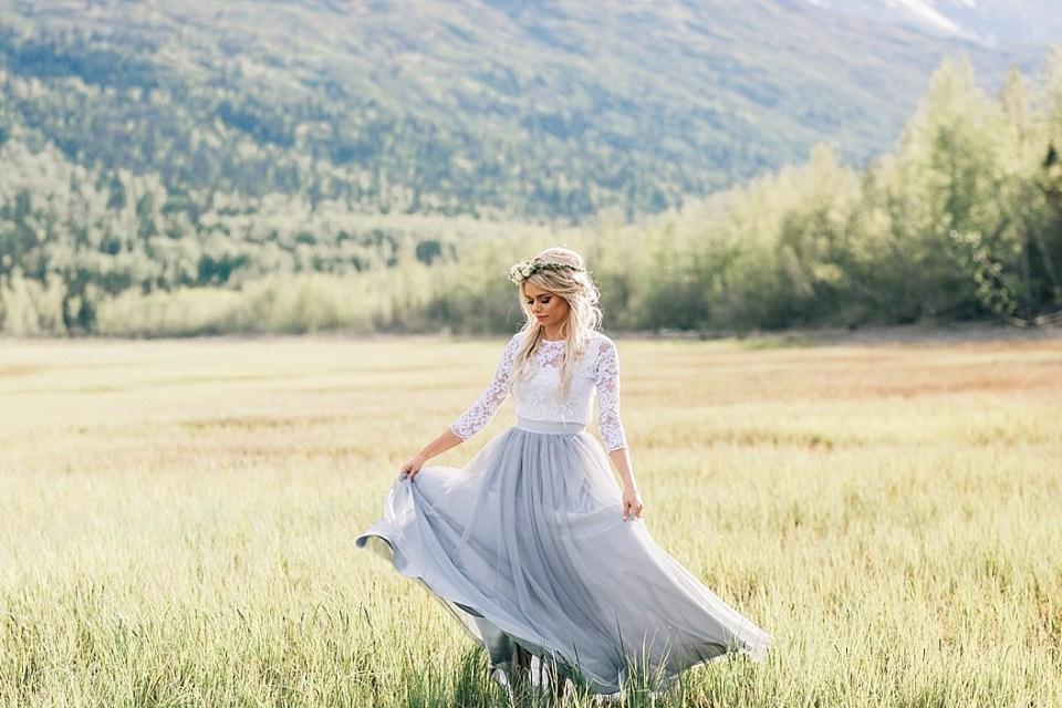Bliss Tulle | Alaska Bride | Eklunta Lake | Workshop Styled Shoot