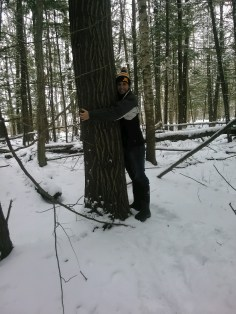 Me...Hugging an Aspen :)