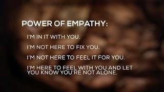 On empathy.