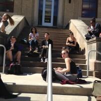 Freshman on the Steps...