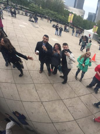 Selfies in The Bean (2017).