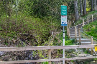 Access to the trail off of Sylvan