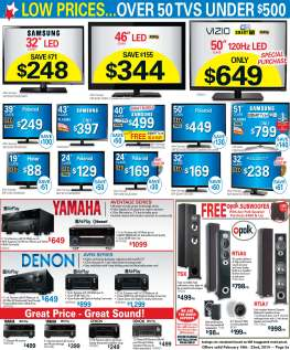 American TV and Appliances Sunday Catalog Electronics Page Layout