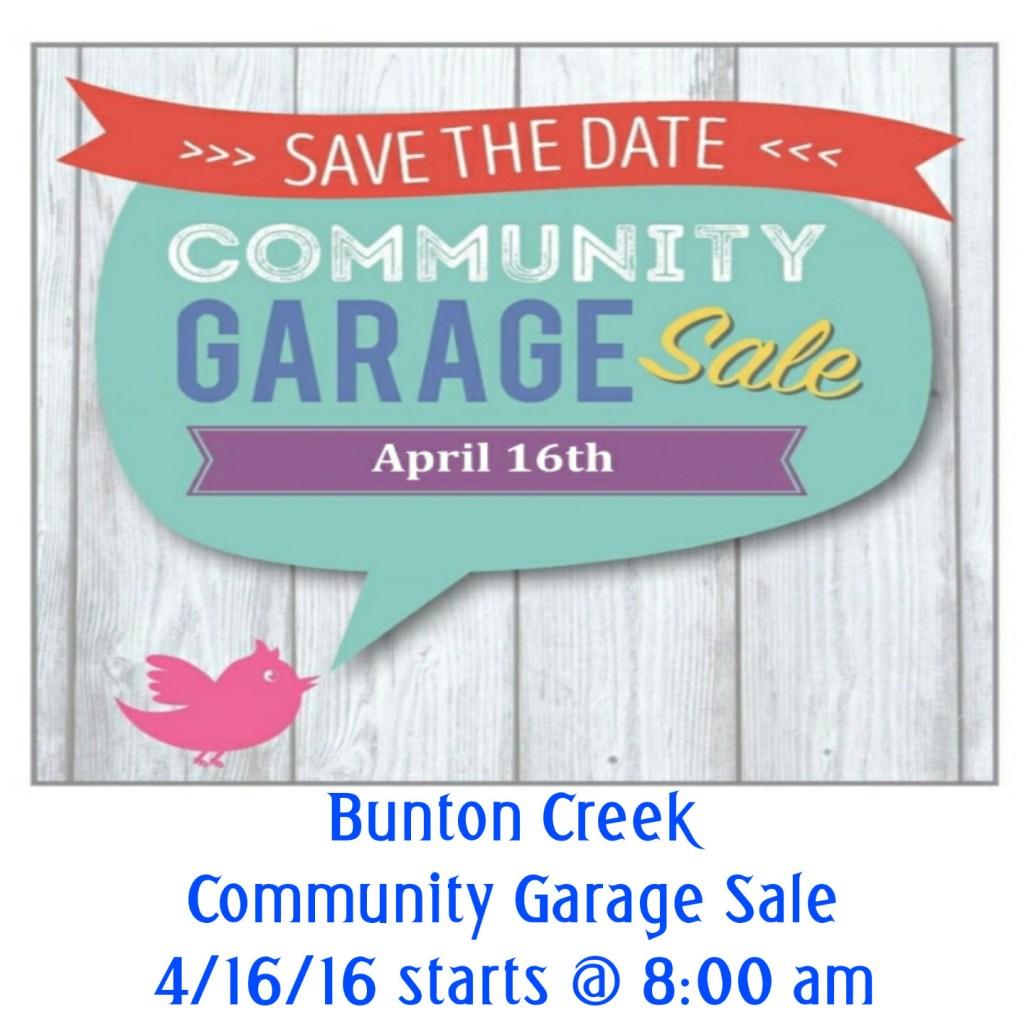 BuntonCreek_Garage_sale