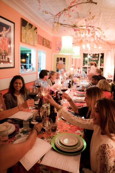 A toast on one side of the long, extended table at The Nook in Black Rock, Conn on Sept. 23 2016.