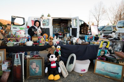 Tammy Jackson of Hamden, CT displays her wares at Elephant's Trunk Flea Market in New Milford on Sunday, Apr. 10, 2016. This is her second summer as a vendor there and plans to be at the market every Sunday this season.