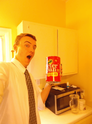 Look, ma! Copious amounts of peanut butter!