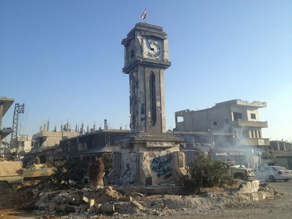 Qusayr, the town destroyed by Hizballah-led forces in May 2013 when Nasrallah announced Hizballah was in Syria