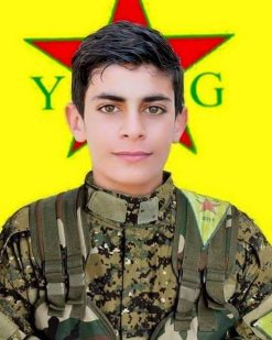 Martyrdom notice for a PYD/YPG child soldier