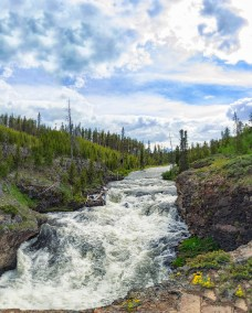 Sheepeater Falls in Yellowstone National Park. There was a bear sighting across the river from here