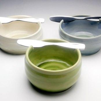 dip bowl and knife set