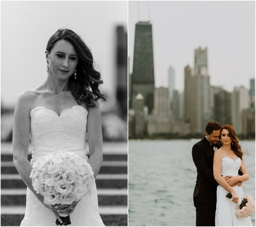 Lakefront Chicago Illinois Wedding Engagement Photographer