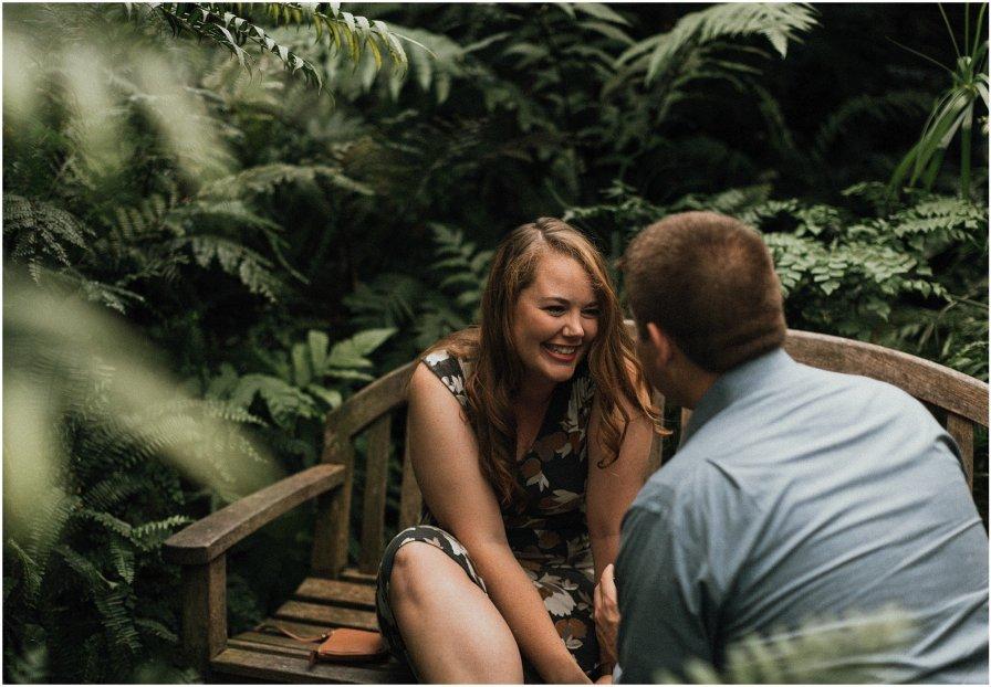 Garfield Park Conservatory Proposal Chicago Illinois Wedding Engagement Photographer