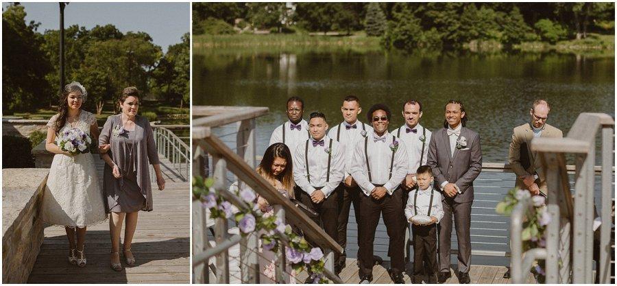 Chicago Lake Ellyn Boathouse Summer Wedding