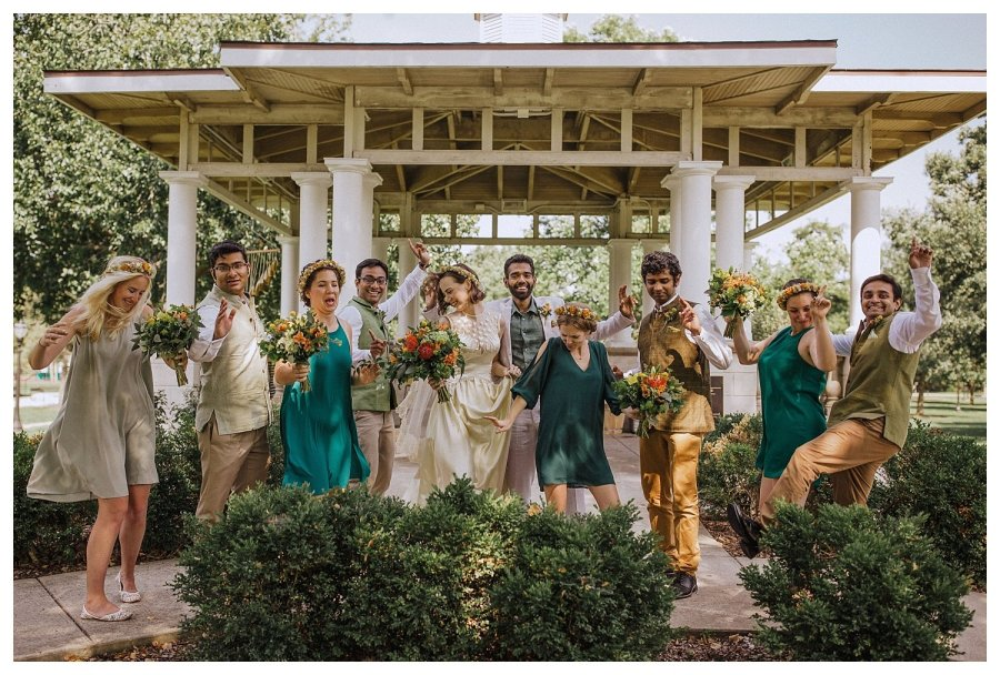 Champaign Wedding party