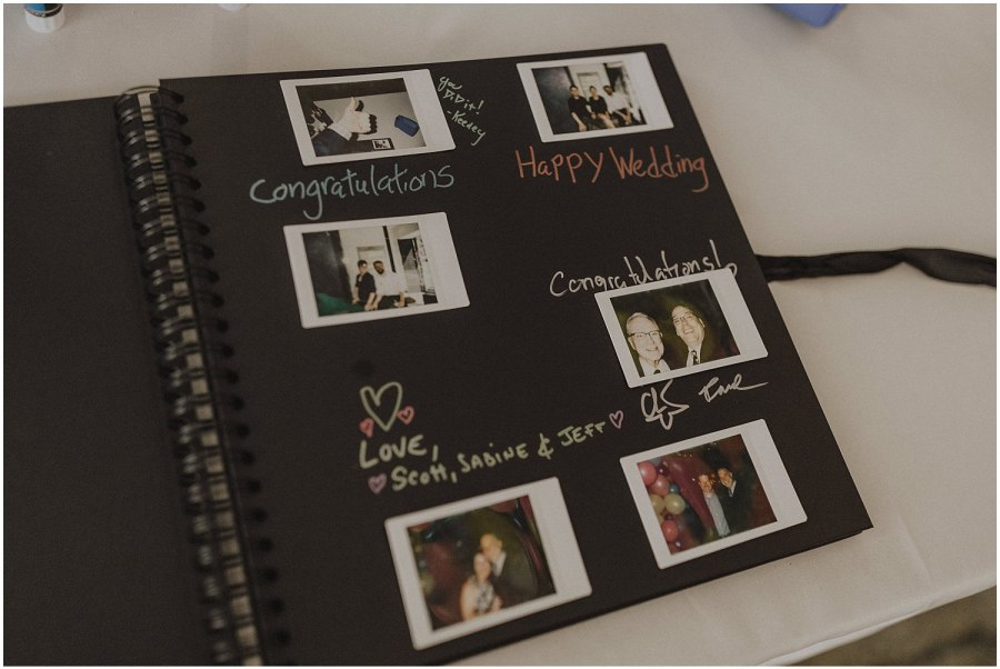 Intimate Filament Theater Chicago Wedding Guest Book